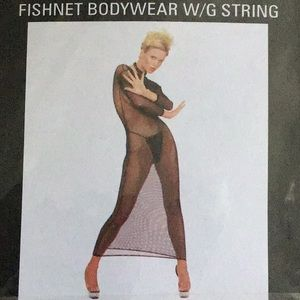 Leg Avenue Sexy Fishnet Bodysuit W/G String